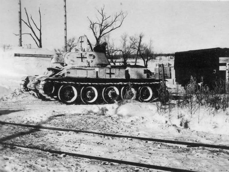 독일군의 노획 소련제 T-34/76 전차 1940 모델 - German Army capture used Soviet T-34/76 Tanks 1940 Model