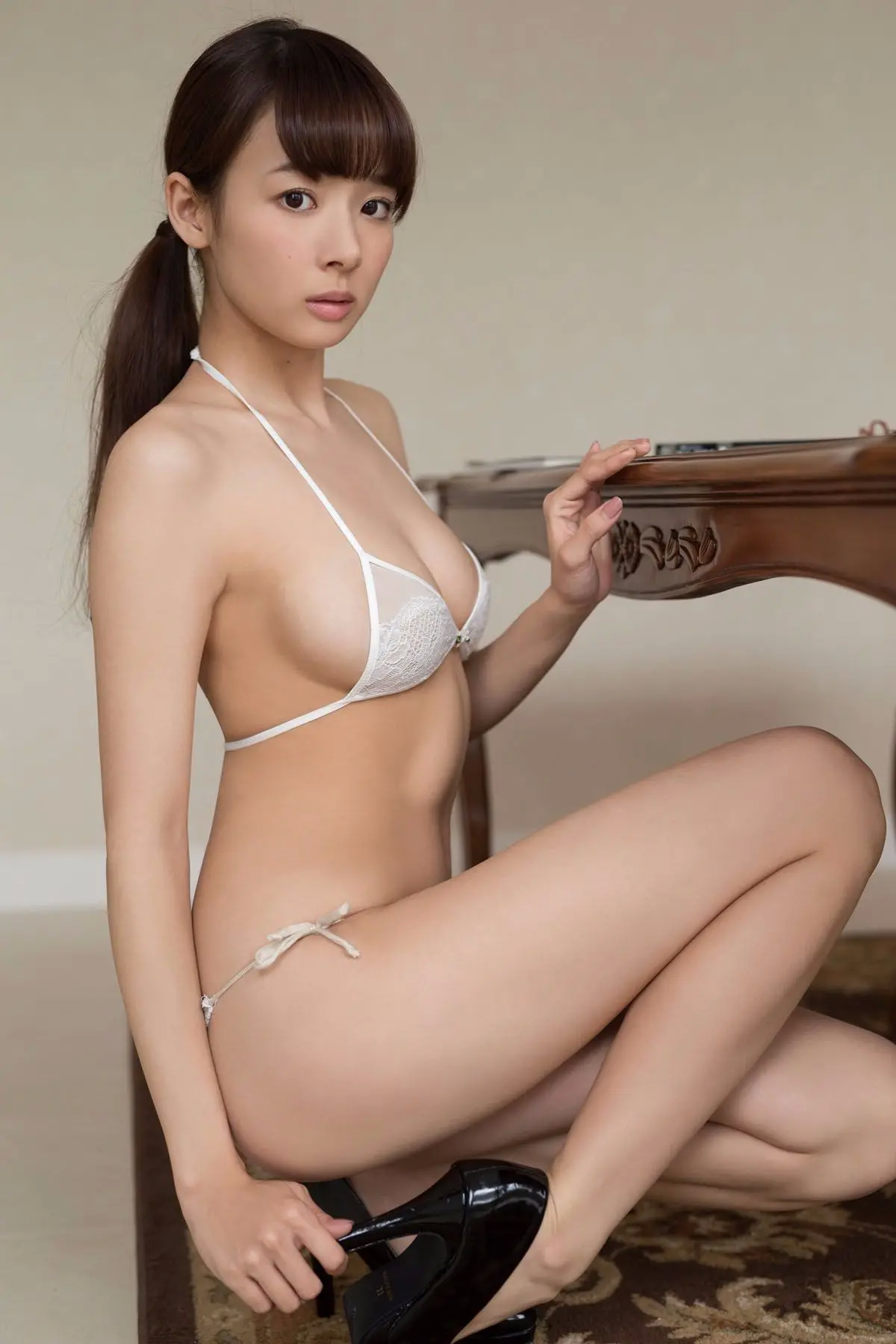 cool Japanese girl in lingerie